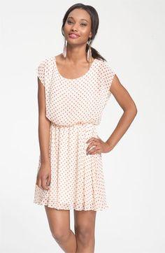 Lush 'Harper' Chiffon Dress (Juniors)