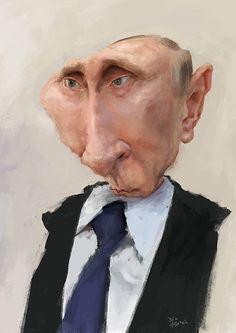 Caricatura de Vladímir Putin.