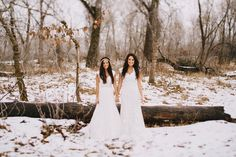 Snowy Sister Brides!