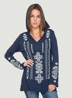 Johnny Was Kiera Relaxed Hoodie  #embroidered #boho #style