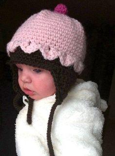 Infants to Adults Cupcake Hat Crochet Pattern PDF 219 Crochet Kids Hats, Crochet Cap, Baby Hats Knitting, Love Crochet, Loom Knitting, Knitted Hats, Infants, Knits, Crocheting