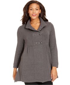Style&co. Plus Size Long-Sleeve Military Cardigan - Plus Size Sweaters - Plus Sizes - Macy's