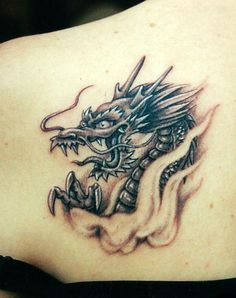 awesome dragon tattoos |The most popular places for Chinese dragon tattoos are back of body, shoulder, chest, neck and lower back of body. worldsstyle.com