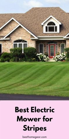 """5 Best Mowers for Stripes - Make your neighbors """"Green"""" with Envy with these Electric Mowers & Lawn Striping Kits used by Professsionals! Lawn Striping, No Mow Grass, Walk Behind Mower, Best Lawn Mower, Lawn Maintenance, Fruit Garden, Lawn Care, Lawn And Garden, Gardening"""