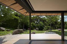 Modern Japanese design Garden home with revealing sliding doors. ~  kengo kuma PC designboom