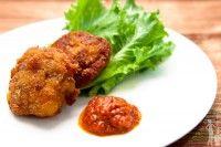 Plantain fritters (aka mosas) » Nigerian appetizer