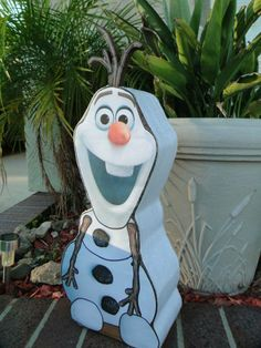 Olaf from Disney Frozen Valentine box I made for my daughter.