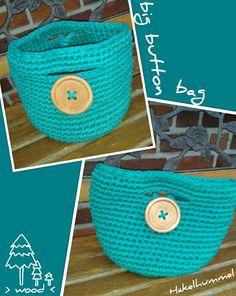 XXL-Holzknopf Tasche #häkeln #Tasche #crochet #bag