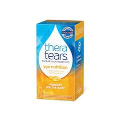 TheraTears Eye Nutrition- 90 CT- Omega 3 Supplement TheraTears Eye Nutrition promotes healthy tears* Advanced supplement with Vitamin E Doctor created and doctor recommended Easy to swallow soft gels Omega 3 Supplements, Nutritional Supplements, Omega Oils, Daily Vitamins, Fish Oil, Vitamin E, Healthy Tips, Health And Beauty