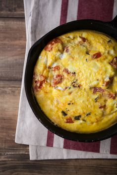 Goat Cheese Frittata ] Made with: olive oil, garlic, fresh rosemary ...