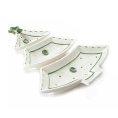 Set 3 platouri ceramica brad alb Craciun.Dimensiuni: 27 x 28 x 2,7 H  cm - livrare gratuita la comenzi de peste 300 lei si drept de retur garantat Accessories, Jewelry Accessories