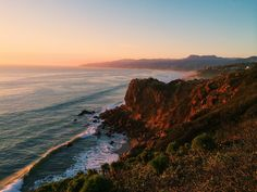 Hiking in Los Angeles and Malibu.