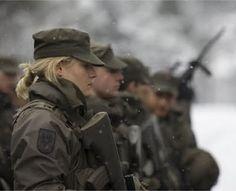 Lindas mulheres são soldados - ÁUSTRIA.