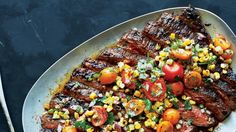 This flank steak recipe is a spicy and sweet powerhouse thanks to an expert seasoning blend and grilled corn salsa.
