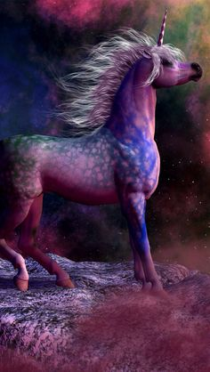 Stunning Purple-Dappled Uicorn.