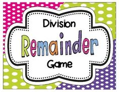 Need a fun, hands-on way to introduce division with remainders? Try this FREEBIE! Students will use manipulatives to model division sentences. 3rd Grade Division, Long Division, Teaching Math, Maths, Daily 5 Math, Remainders, Multiplication And Division, Math Numbers, 4th Grade Math
