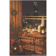 IKEA/LEDランタン/発泡スチロールレンガ 手作り/夜景が観える部屋/IKEAテーブルセット…などのインテリア実例 - 2014-11-25 23:10:52 | RoomClip(ルームクリップ)