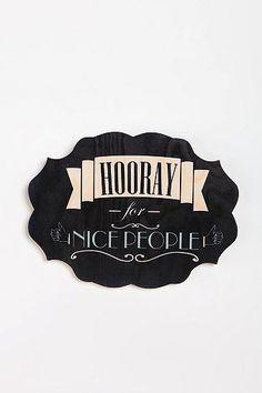 Hooray For Nice People
