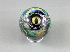 eye marble evil eye marble dragon eye marble by lampworkbyjulie, $50.00