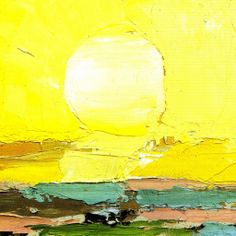 The Sun--Nicolas De Stael Abstract Landscape Painting, Landscape Art, Landscape Paintings, Abstract Art, Art Jaune, Yellow Artwork, Georges Braque, Art Moderne, Abstract Expressionism