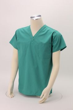 Great uniform option for employees that allows for a professional appearance and can be imprinted with your logo from Scrub Tops, Human Resources, Scrubs, V Neck, Logo, Places, Mens Tops, Shopping, Fashion