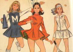 Vintage+1960s+Cheerleader+Skating+Tennis