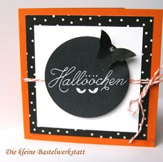 Stampin up Zwischen den Zweigen Karte Grußkarte Halloween orange Fledermaus