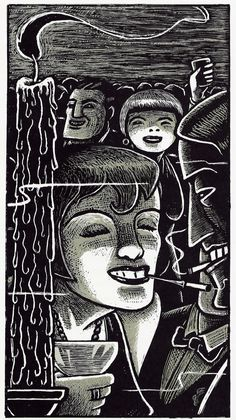 Art Spiegelman Illustration for The Wild Party, by Joseph Moncure March French edition - Flammarion 2008 Art Spiegelman, Political Art, Art Et Illustration, Design Graphique, Comic Styles, Black And White Illustration, Magazine Design, Mosaic Art, Artist Art