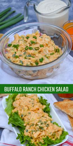 This buffalo ranch chicken salad is a zesty take on chicken salad. With buffalo flavor and shot of ranch, this chicken salad recipe packs tons of flavor. Green Veggies, Fresh Vegetables, Fruits And Veggies, Buffalo Ranch Chicken, Fruit Plus, Chicken Salad Recipes, Chicken Salads, Dried Beans, How To Make Salad