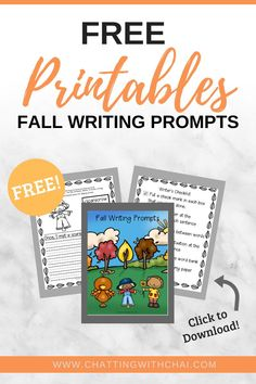 7 Kindergarten writing prompts with pictures, helping word bank, checklists, and sentence starters. Great for kids that need extra support in getting thoughts on to paper. Fun way to practice narrative writing during the Fall season. Fun fall learning in the writer's workshop. #tpt #kinderwriting # earlyelem #writersworkshop #writingthenarrative #falllearning Fun Fall Activities, Toddler Learning Activities, Kindergarten Activities, Writing Activities, Teaching Kids, Kids Learning, Teaching Resources, Narrative Writing, Writing Skills