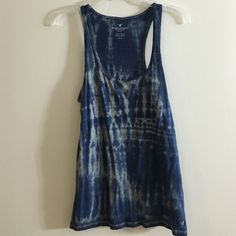 AE Blue Tank Tie-Dye blue tank from AE. Bought and took tags off, but never wore! NWOT. American Eagle Outfitters Tops Tank Tops