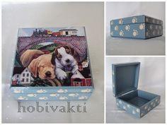 Bugünün kutusuda, köpek resimli kutu olsun. :)) Rengin adı, gri mavi. Bu yayınımda kısa ve öz olsun :)) Sevgi...