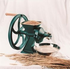 Diamant Grain Mill.  Best non-electric handmill on the market.  It's crazy expensive.