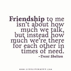 Friendship to Me Isn't about How Much
