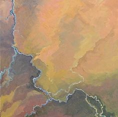 BoldBrush Painting Competition Winners Outstanding Abstract Award Sponsor: FASO Judge: FAV Staff  new mexico aerial by Rob Compton 24 x 24 Oil