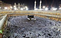The Haj, the 5th pillar of Islam. Mecca, Saudi Arabia