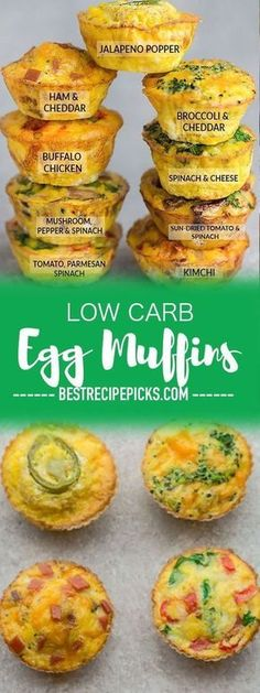 Low Carb Egg Muffin make the perfect breakfast for on the go. Theyre packed with protein and so convenient for busy mornings. Low Carb Egg Muffin make the perfect breakfast for on the go. Theyre packed with protein and so convenient for busy mornings. Healthy Breakfast Recipes, Healthy Eating, Clean Eating, Breakfast Muffins Healthy Egg, Breakfast Egg Cups, Healthy Meals, Healthy Breakfast With Eggs, Breakfast Ideas With Eggs, Low Carb Breakfast Casserole