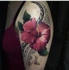 Hibiscus tattoo/ Flor amapola