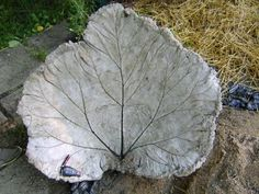 I absolutely love this Rhubarb Leaf Bird Bath! Great tutorial to go with it.