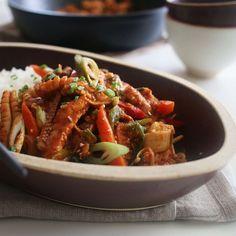 오삼불고기 덮밥 (Spicy Beef and Squid)