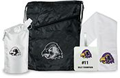 Team Spirit Banquet Golf & Sport Kit. New 2017 Golf Products! www.imprintgolf.com 401-841-5646. Looking for the personalized giveaway for your golf event or sports teams? Personalize each kit with teammates names or the team logo. Kit includes a black cinch back pack, 20 oz. water bag, Chill Out Sport cooling towel, & personalized bag tag. Price includes a one color imprint on the towel, water bag, cinch pack & bag tag. (Upgrade your kit & include promotional sport balls, golf balls, tees…