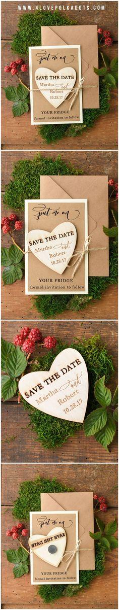 Save the Date Wooden Magnet #rustic #eco #savethedate #wood #weddingideas #winterwedding #winter