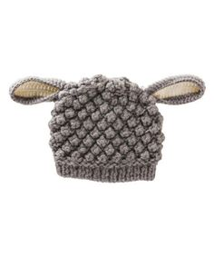 Look what I found on #zulily! Gray Lamb Beanie by Blossoms & Buds #zulilyfinds