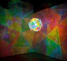 Olafur Eliasson light installation. The Museum of Art in Seoul