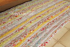 Thrifty Crafty Girl: DIY Rug from Thrifted Sheets. I need to learn how to crochet.