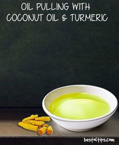 OIL PULLING WITH COCONUT OIL AND TURMERIC FOR STRONGER, WHITER TEETH AND GUMS
