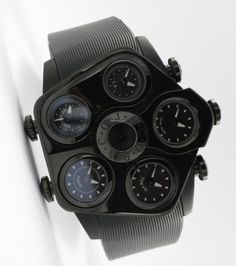 £2028 Jacob & Co. Jumbo Grand Five Time Zone JGR5-18 Watch This Space, Time Zones, Black Bracelets, Quartz, Gallery, Things To Sell, Roof Rack, Black Braces