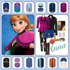 """Jamberry Nails inspired by """" Frozen"""" Http://www.megancrofts.jamberrynails.net"""