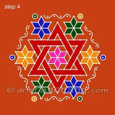 This page provides Dot Rangoli Designs with title Dot Rangoli 18 for Hindu festivals.