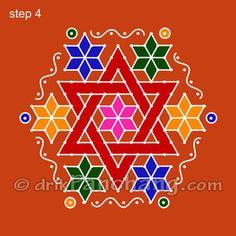 This page provides Dot Rangoli Designs with title Dot Rangoli 18 for Hindu festivals.